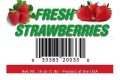 fresh strawberry upc label for 1 pound clamshells